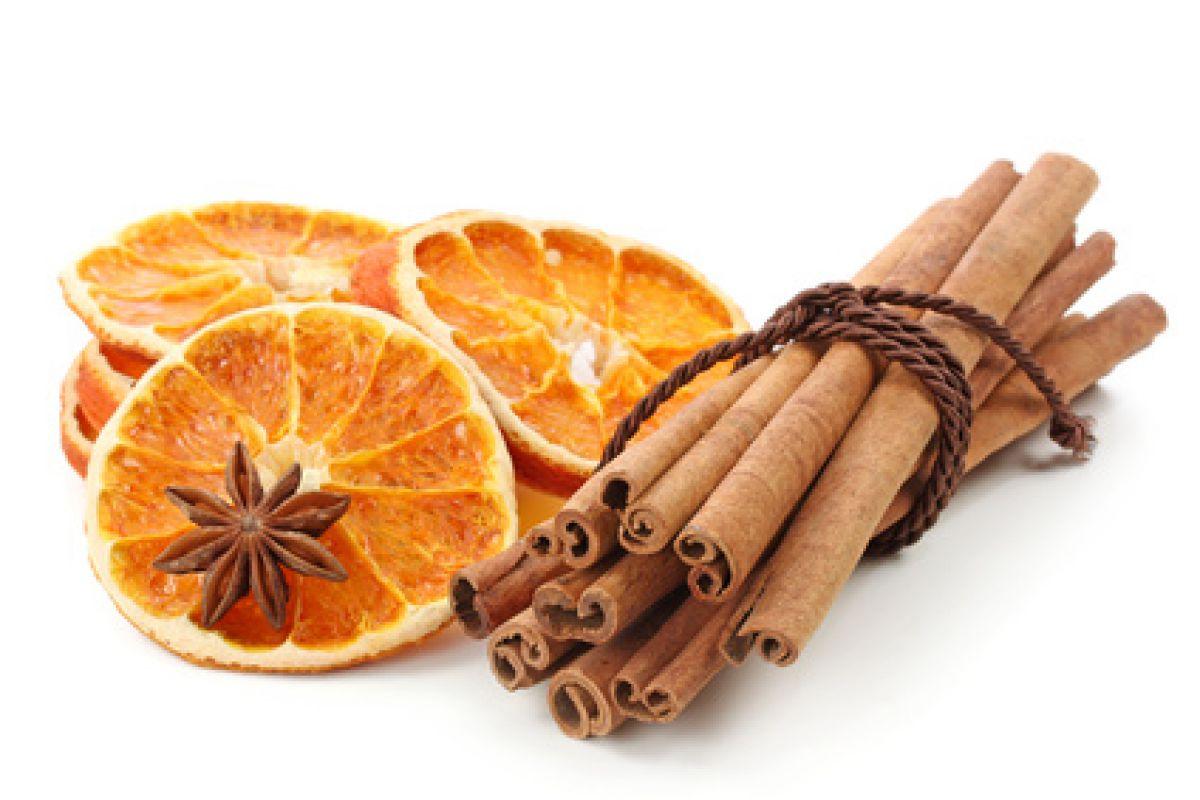 Bougie orange cannelle