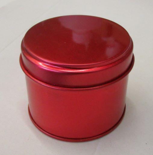 pot bougie metal rouge
