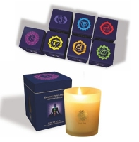 "Lot des 7 bougies votives ""chakras"""